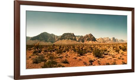 View of the Red Rock Canyon National Conservation Area, Near Las Vegas, Clark County, Nevada, USA--Framed Art Print