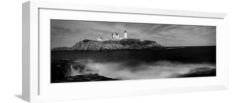 Lighthouse on the Coast, Nubble Lighthouse, York, York County, Maine, USA--Framed Art Print