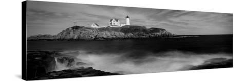 Lighthouse on the Coast, Nubble Lighthouse, York, York County, Maine, USA--Stretched Canvas Print