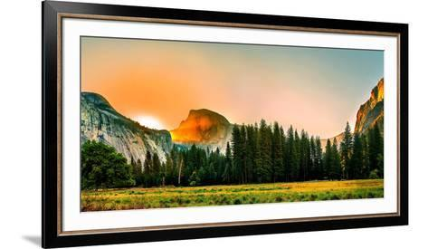 Trees in a Forest with Mountain Range in the Background, Yosemite National Park, California, USA--Framed Art Print