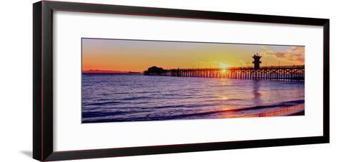 Seal Beach Pier at Sunset, Seal Beach, Orange County, California, USA--Framed Art Print
