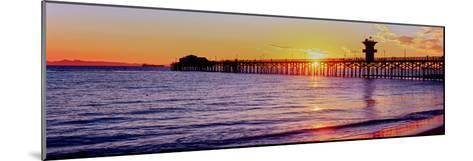 Seal Beach Pier at Sunset, Seal Beach, Orange County, California, USA--Mounted Photographic Print