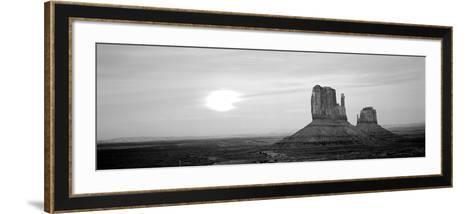 East Mitten and West Mitten Buttes at Sunset, Monument Valley, Utah, USA--Framed Art Print