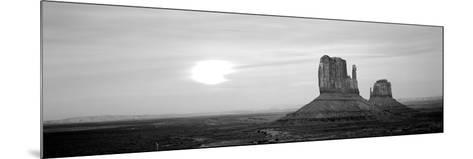 East Mitten and West Mitten Buttes at Sunset, Monument Valley, Utah, USA--Mounted Photographic Print