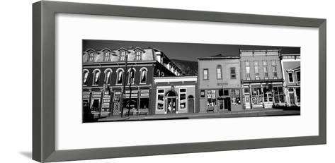 Buildings in a Town, Old Mining Town, Silverton, San Juan County, Colorado, USA--Framed Art Print