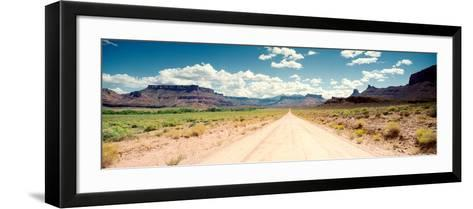 Dirt Road Passing Through a Landscape, Onion Creek, Moab, Utah, USA--Framed Art Print
