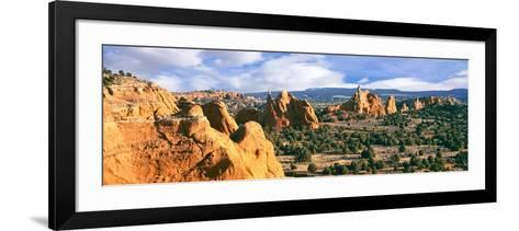 Rock Formations on a Landscape, Kodachrome Basin State Park, Utah, USA--Framed Art Print