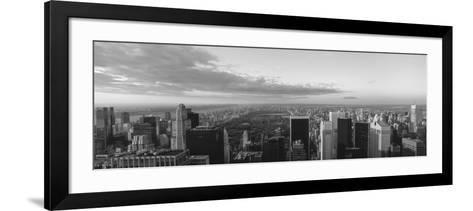 Cityscape at Sunset, Central Park, East Side of Manhattan, New York City, New York State, USA--Framed Art Print