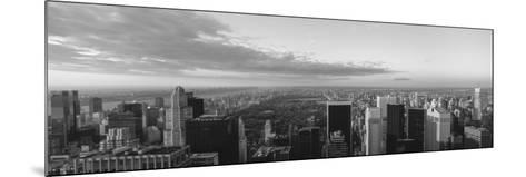 Cityscape at Sunset, Central Park, East Side of Manhattan, New York City, New York State, USA--Mounted Photographic Print