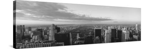 Cityscape at Sunset, Central Park, East Side of Manhattan, New York City, New York State, USA--Stretched Canvas Print