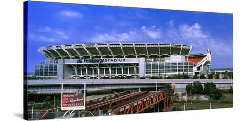 Football Stadium in a City, Firstenergy Stadium, Cleveland, Ohio, USA--Stretched Canvas Print
