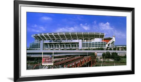 Football Stadium in a City, Firstenergy Stadium, Cleveland, Ohio, USA--Framed Art Print