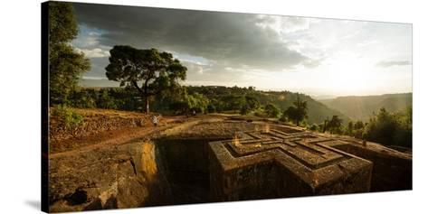 Elevated View of Church of Saint George, Lalibela, Ethiopia--Stretched Canvas Print