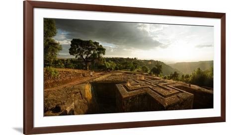 Elevated View of Church of Saint George, Lalibela, Ethiopia--Framed Art Print