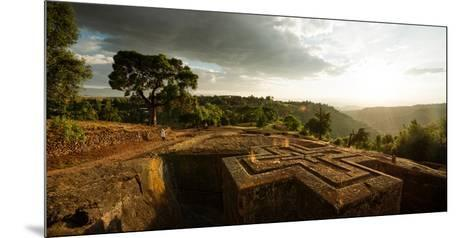 Elevated View of Church of Saint George, Lalibela, Ethiopia--Mounted Photographic Print