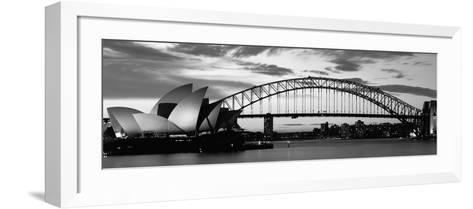 Sydney Harbour Bridge at Sunset, Sydney, Australia--Framed Art Print