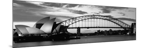Sydney Harbour Bridge at Sunset, Sydney, Australia--Mounted Photographic Print