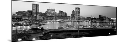 Inner Harbor, Baltimore, Maryland, USA--Mounted Photographic Print