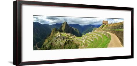 Inca City of Machu Picchu with Urubamba River, Urubamba Province, Cusco, Peru--Framed Art Print