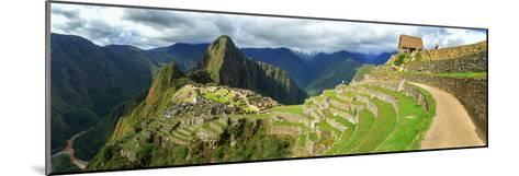 Inca City of Machu Picchu with Urubamba River, Urubamba Province, Cusco, Peru--Mounted Photographic Print
