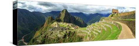 Inca City of Machu Picchu with Urubamba River, Urubamba Province, Cusco, Peru--Stretched Canvas Print
