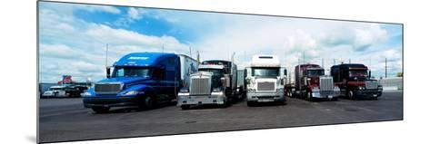 Eighteen Wheeler Vehicles on the Road--Mounted Photographic Print