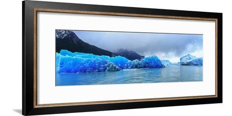 Icebergs of Upsala Glacier, Southern Patagonian Ice Field, Los Glaciares National Park--Framed Art Print