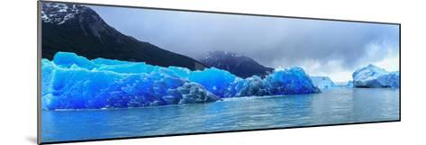 Icebergs of Upsala Glacier, Southern Patagonian Ice Field, Los Glaciares National Park--Mounted Photographic Print