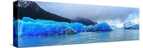 Icebergs of Upsala Glacier, Southern Patagonian Ice Field, Los Glaciares National Park--Stretched Canvas Print