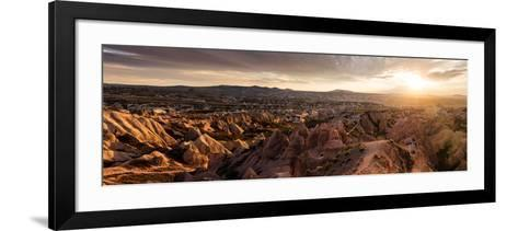 View of Rock Formations from Aktepe Hill at Sunset over Red Valley, Goreme National Park--Framed Art Print