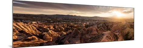 View of Rock Formations from Aktepe Hill at Sunset over Red Valley, Goreme National Park--Mounted Photographic Print
