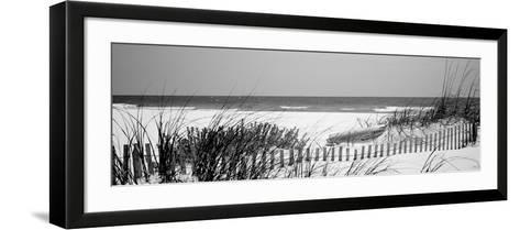 Fence on the Beach, Bon Secour National Wildlife Refuge, Gulf of Mexico, Bon Secour--Framed Art Print