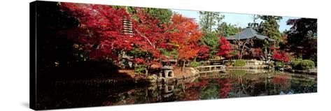Seiryo-Ji Temple in Autumn, Ukyo-Ku, Kyoto City, Kyoto Prefecture, Japan--Stretched Canvas Print