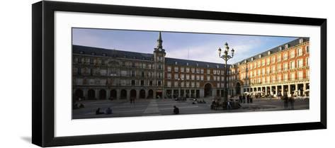 Tourists in the Courtyard of a Building, Plaza Mayor, Madrid, Spain--Framed Art Print
