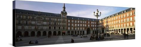 Tourists in the Courtyard of a Building, Plaza Mayor, Madrid, Spain--Stretched Canvas Print