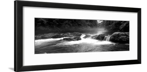 Usa, North Carolina, Tennessee, Great Smoky Mountains National Park, Little Pigeon River--Framed Art Print