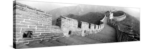 High Angle View of the Great Wall of China, Mutianyu, China--Stretched Canvas Print
