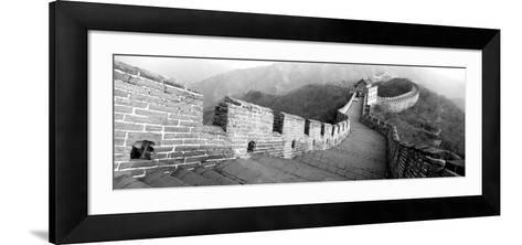 High Angle View of the Great Wall of China, Mutianyu, China--Framed Art Print