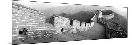 High Angle View of the Great Wall of China, Mutianyu, China--Mounted Photographic Print