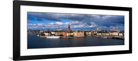 High Angle View of Cityscape at the Waterfront, Stockholm, Sweden--Framed Art Print