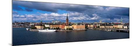 High Angle View of Cityscape at the Waterfront, Stockholm, Sweden--Mounted Photographic Print