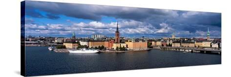 High Angle View of Cityscape at the Waterfront, Stockholm, Sweden--Stretched Canvas Print