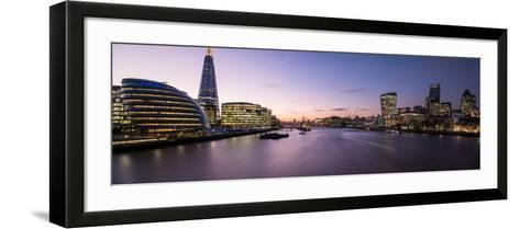 View of the Shard and City Hall from Tower Bridge, Southwark, London, England--Framed Art Print