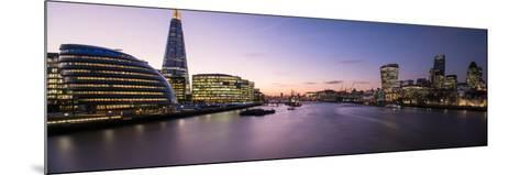 View of the Shard and City Hall from Tower Bridge, Southwark, London, England--Mounted Photographic Print