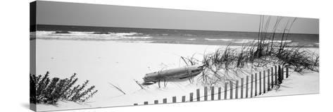Fence on the Beach, Alabama, Gulf of Mexico, USA--Stretched Canvas Print