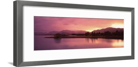Lake at Sunset, Lake Tekapo, South Island, Canterbury, New Zealand--Framed Art Print
