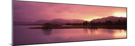Lake at Sunset, Lake Tekapo, South Island, Canterbury, New Zealand--Mounted Photographic Print