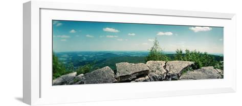 View from the Pinnacle of the Appalachian Trail, Blue Mountain, Appalachian Mountains--Framed Art Print