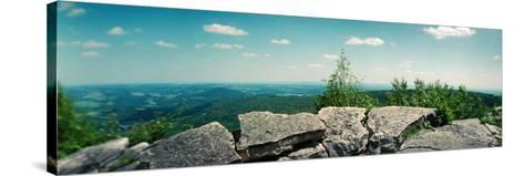 View from the Pinnacle of the Appalachian Trail, Blue Mountain, Appalachian Mountains--Stretched Canvas Print