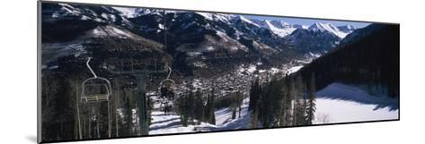 Ski Lifts over Telluride, San Miguel County, Colorado, USA--Mounted Photographic Print
